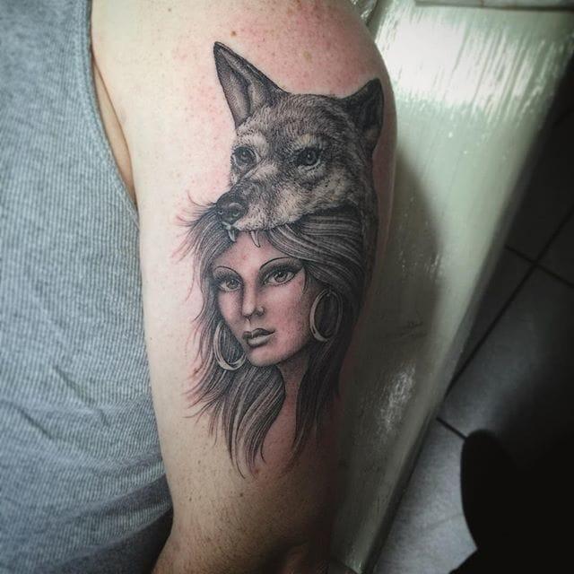 Wolf Cowl Tattoo by Oliver Macintosh