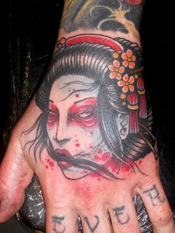 Dead Geisha Tattoo by Derek Noble