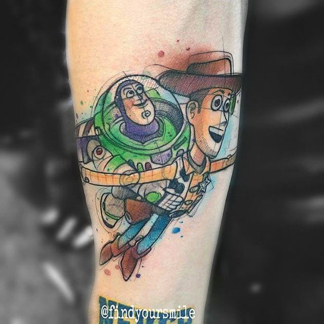 Toy Story Tattoo by Russell Van Schaick