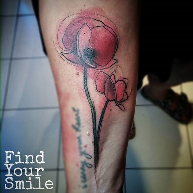 Flower Tattoo by Russell Van Schaick
