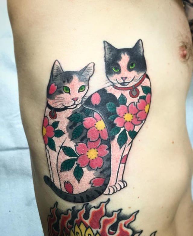 Flower Monmon Cats by Horitomo
