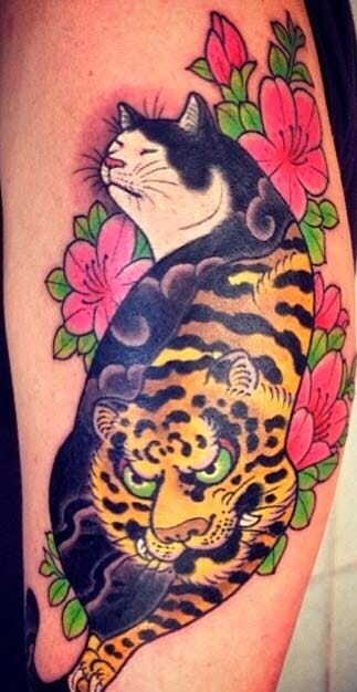 Tattoos By Horitomo Cute And Creative Monmon Cats Tattoodo