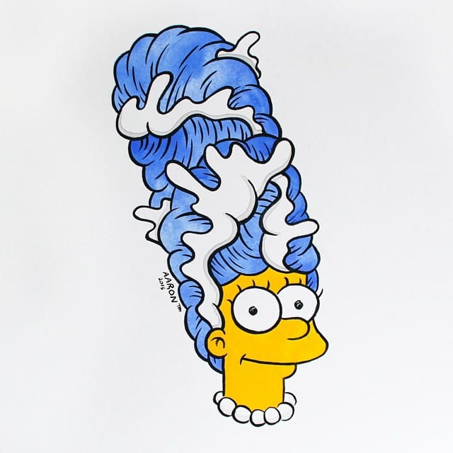 Marge Simpson by Aaron K. Kai
