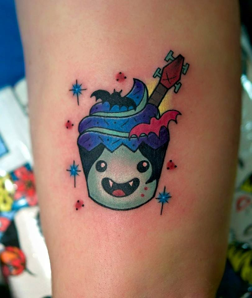 Marceline Adventure Time cupcake tattoo