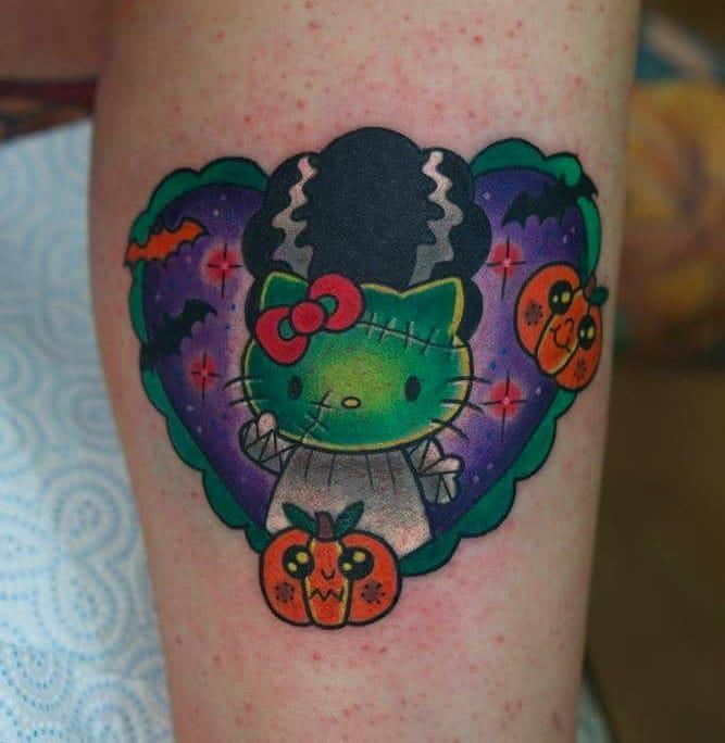 Frankenstein's monster's bride tattoo