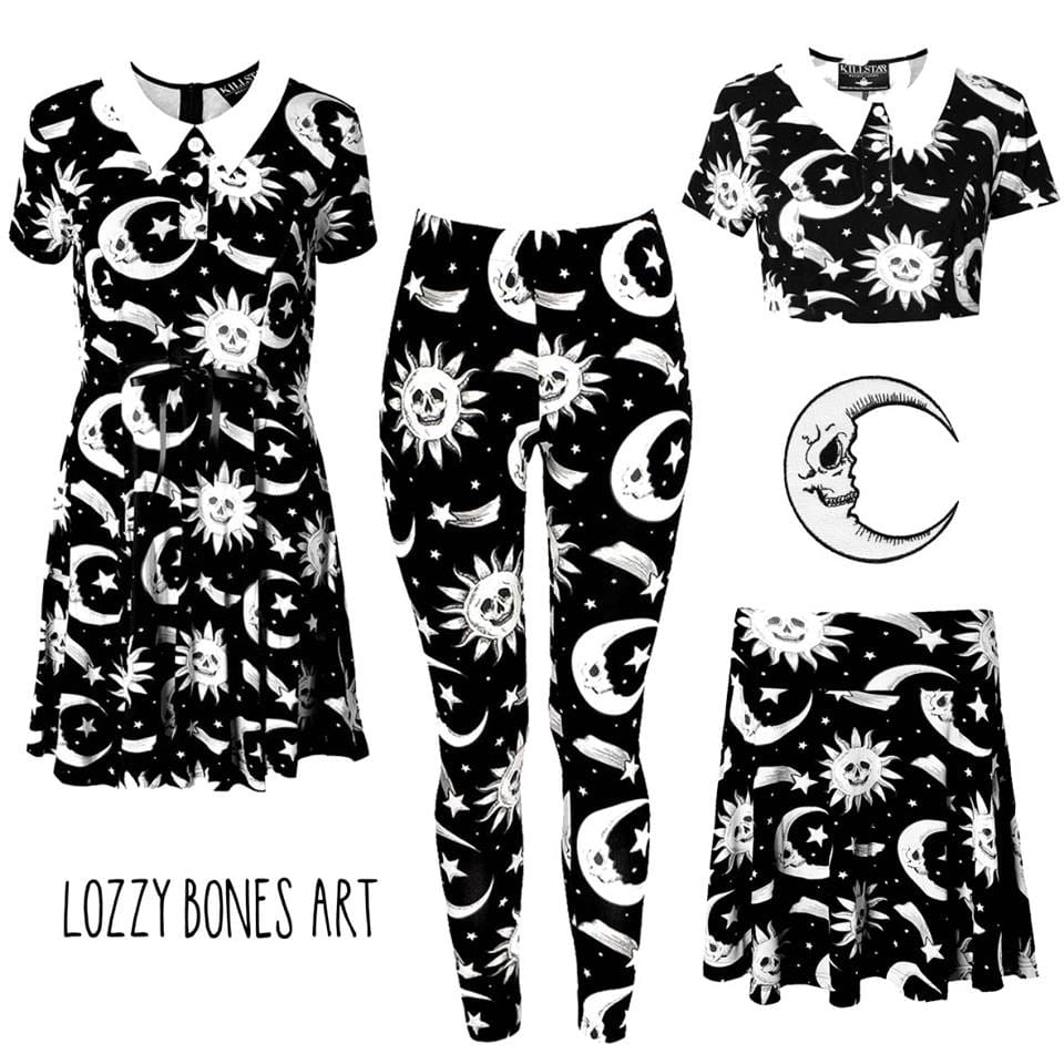 Lozzy Bones Art Killstar range - shop at killstar.com