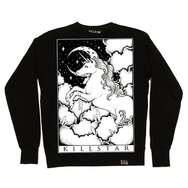 Unicorn Tarot Deck Design on Killstar Jumper