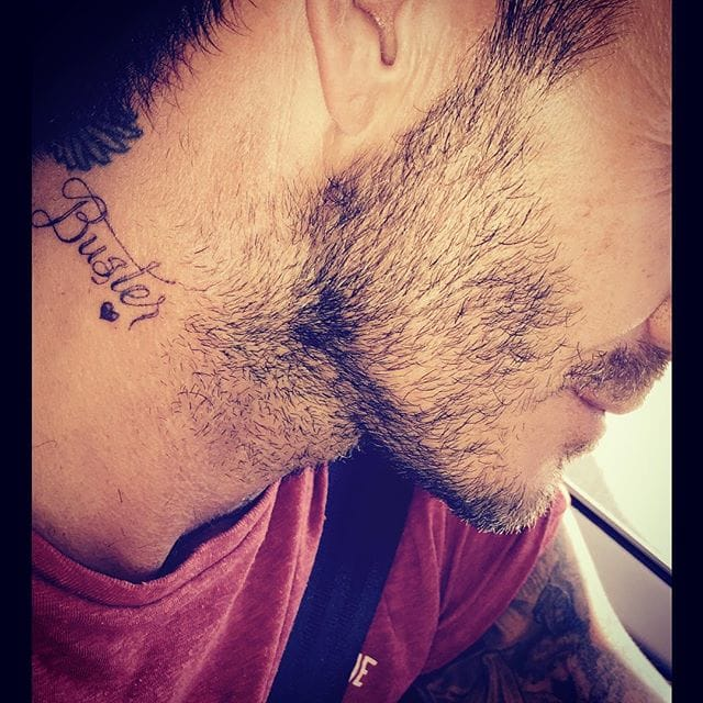 """Buster"" in honor of his oldest son, Source: Instagram @davidbeckham"