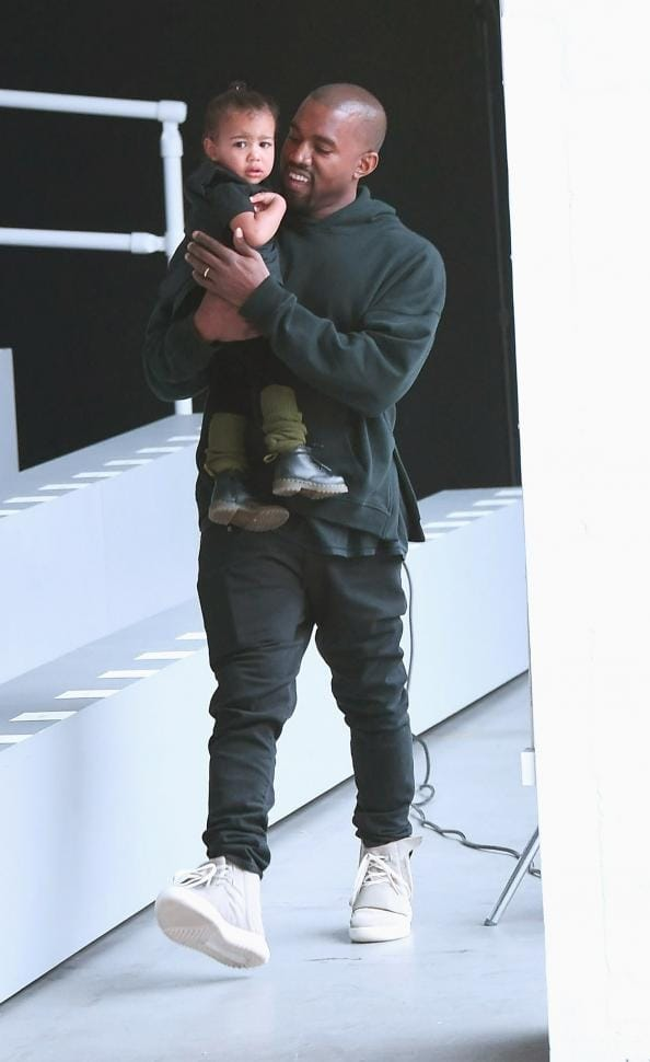 Kanye West with his daughter North