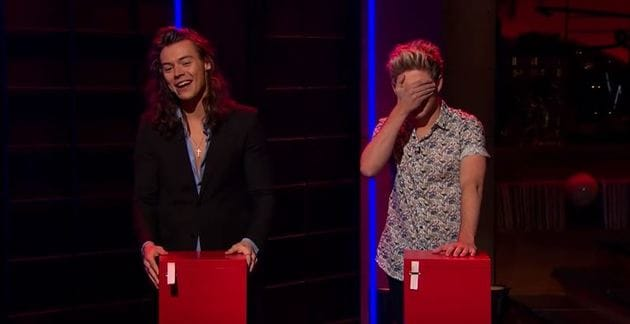 Harry look calm and Niall really doesn't