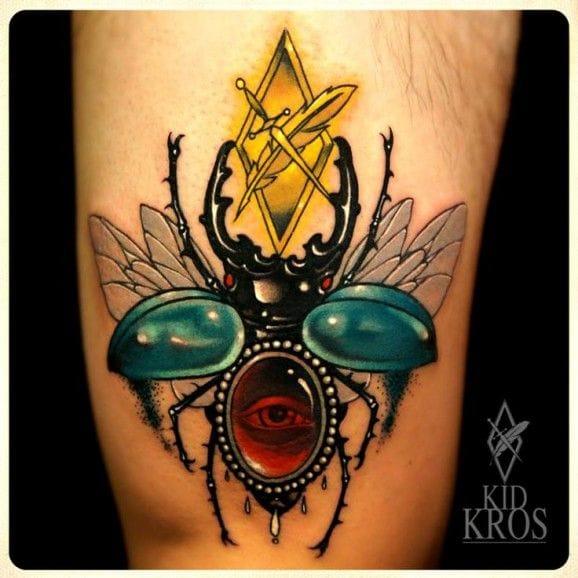 Scarab Tattoo by Kid Kros