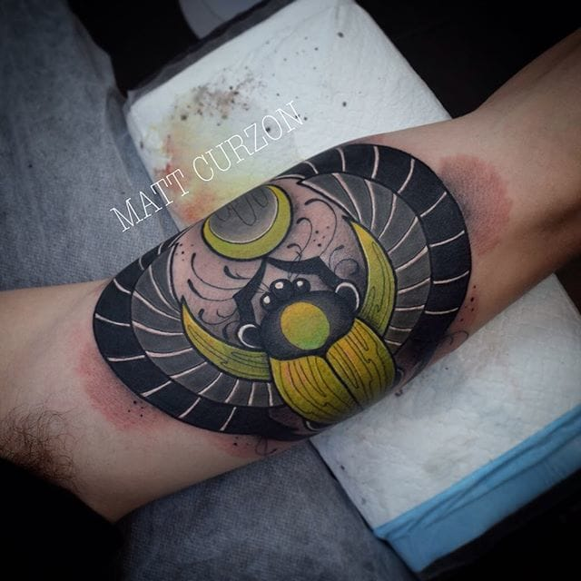 Awesome Scarab Tattoo by Matt Curzon