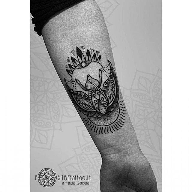 Dotwork Scarab Tattoo by Positive Tattoo