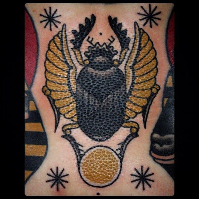 Scarab Tattoo by Sebastian Domaschke