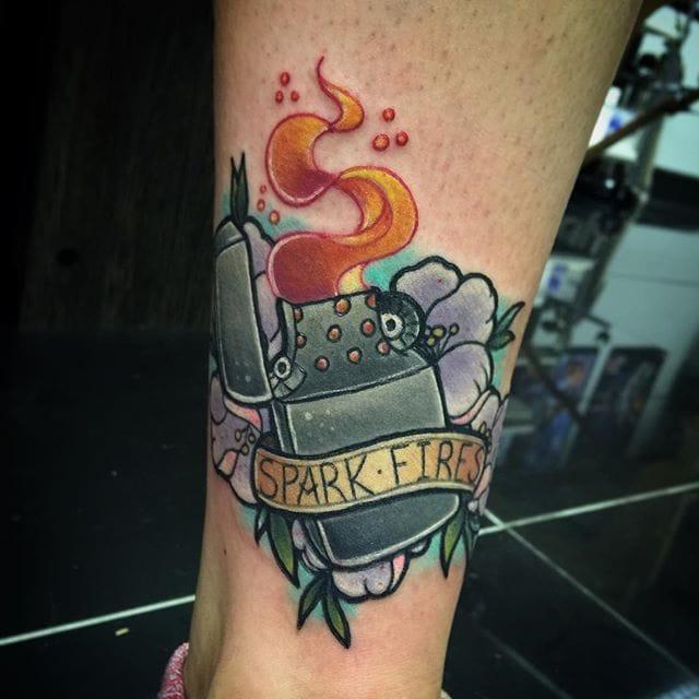 Lighter Tattoo by Isobel Juliet Stevenson