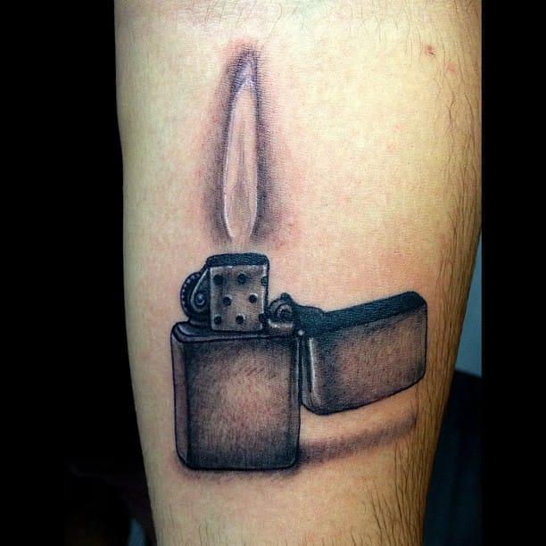 Lighter Tattoo by Morgan Rose Gray