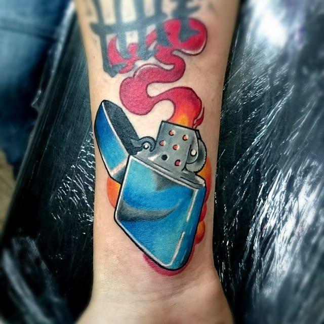 Lighter Tattoo by Robert Ermac