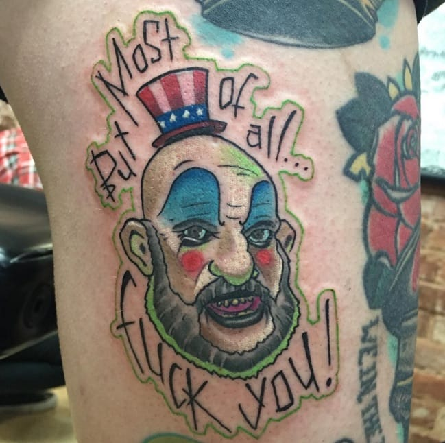 Captain Spaulding - a character from Rob Zombie's movie House Of 1000 Corpses