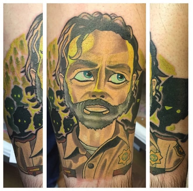 Rick Grimes from The Walking Dead.