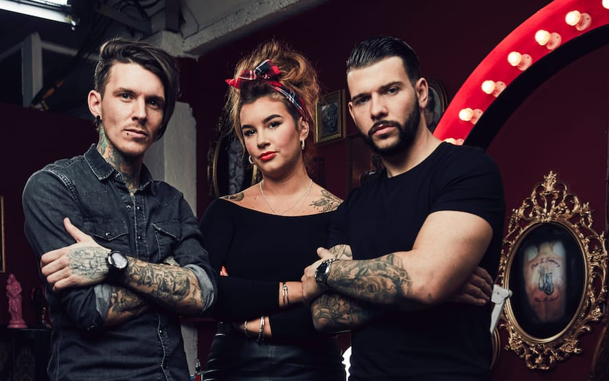 Sketch, Alice and Jay.  #tattoofixers