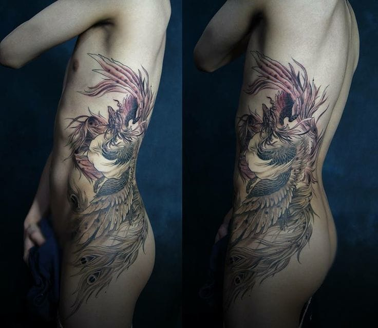 Lovely sidepiece by Ma of Chronic Ink. #maofchronicink #phoenix
