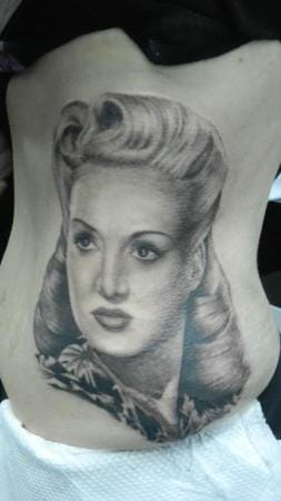 Betty Grable portrait by Laura inskin.ltd.uk