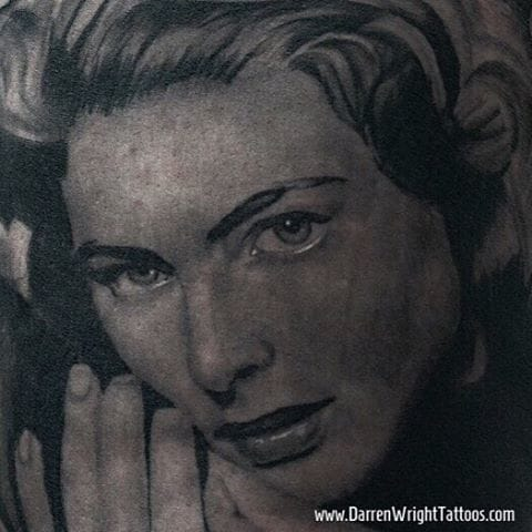Ingrid Bergman portrait by Darren Wright