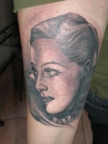 Joan Crawford portrait by Kat von D