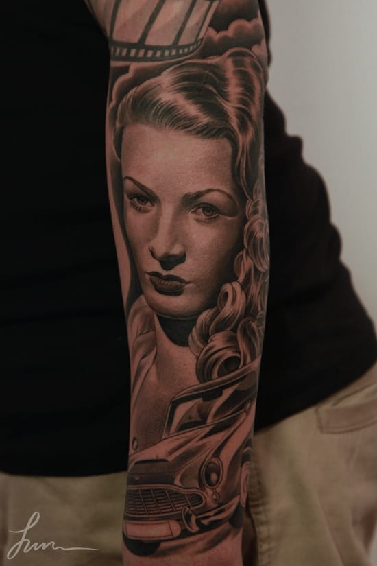 Veronica Lake portrait by Jun Cha, Monarc Studios
