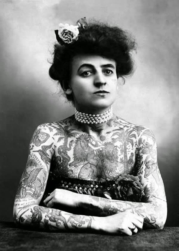Vintage Photos Of Bad Ass Tattooed Women From The 1900'S To 60'S