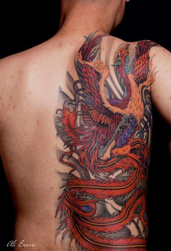 40 Blazing Phoenix Tattoos