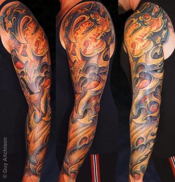 Bio Organic Sleeve Tattoo by Guy Aitchison