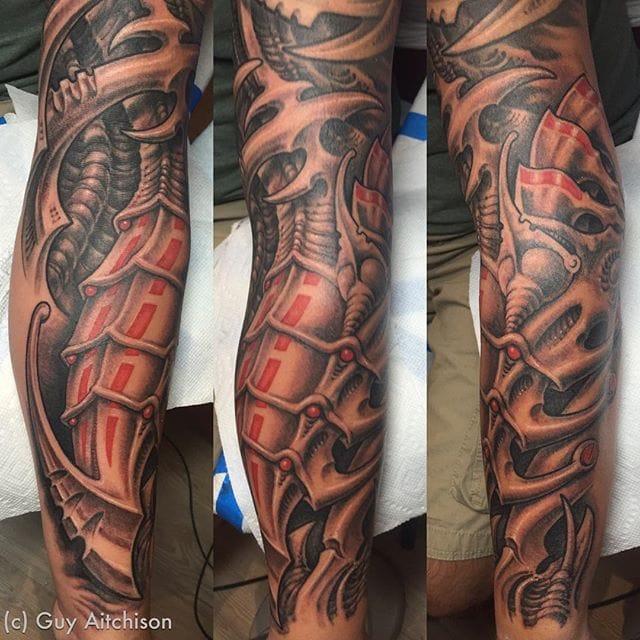 Dark Bio Organic Tattoo by Guy Aitchison