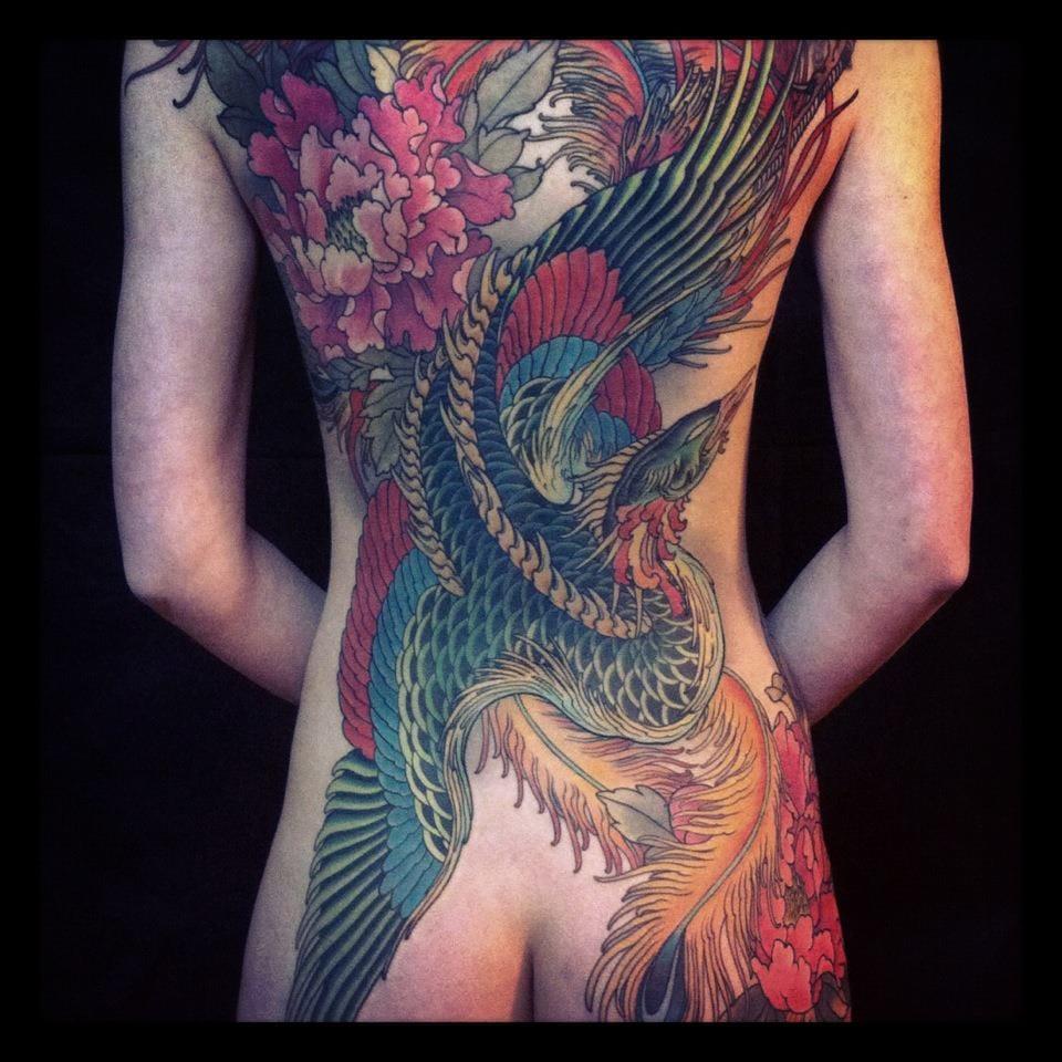 Nice phoenix tattoo by Alexander Grim. #phoenix #alexandergrim