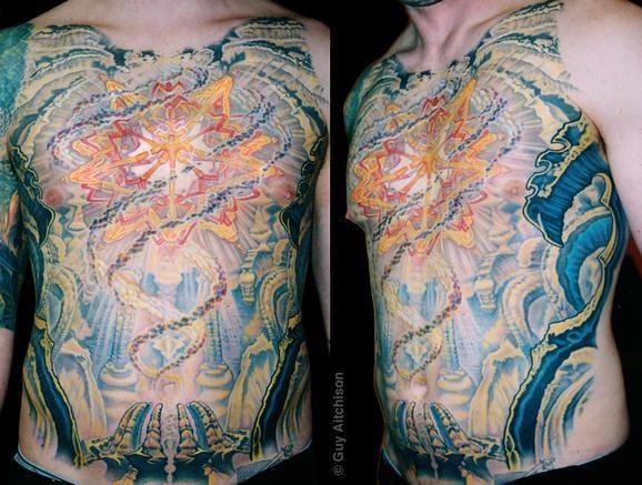 Full Front Bio Organic Tattoo by Guy Aitchison
