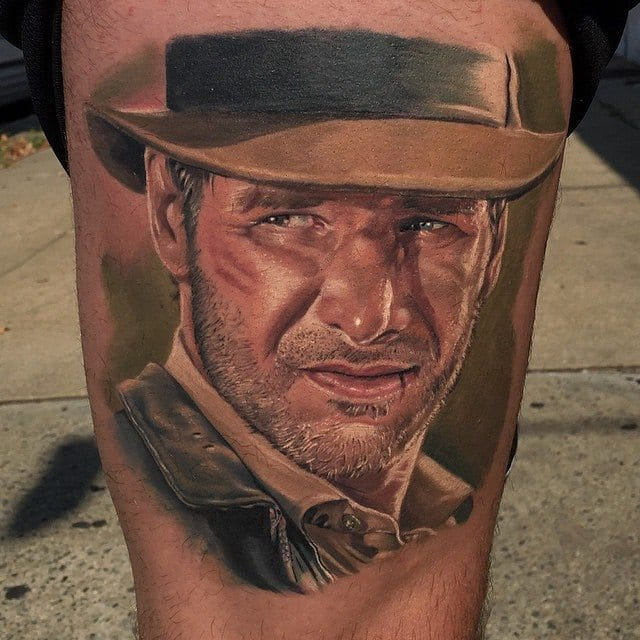14 Action Packed Indiana Jones Tattoos!