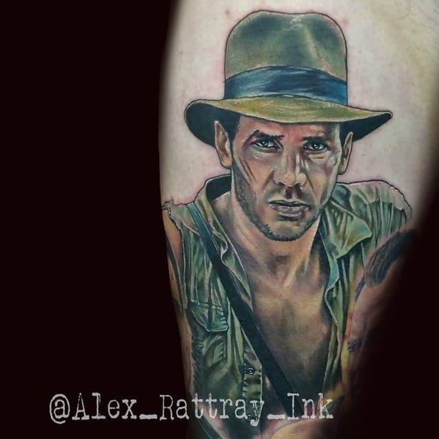 Indiana Jones Tattoo by Alex Rattray
