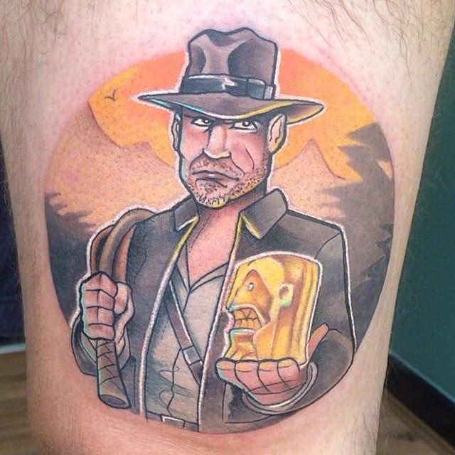 New School Indiana Jones Tattoo by Craig Wilson
