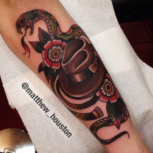 Indiana Jones Tribute Tattoo by Matthew Houston