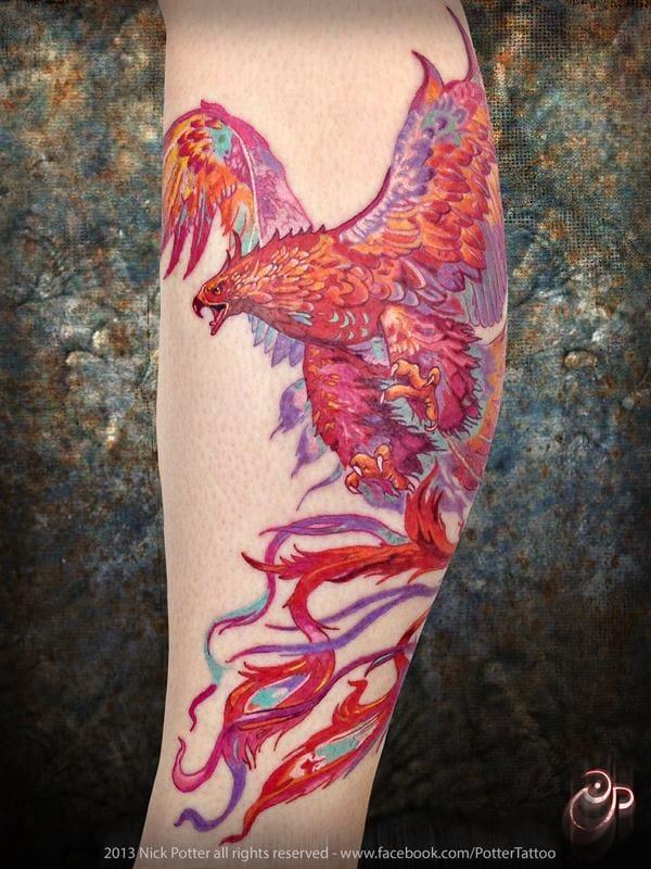 The same design, different version by Nick Potter. #nickpotter #phoenix