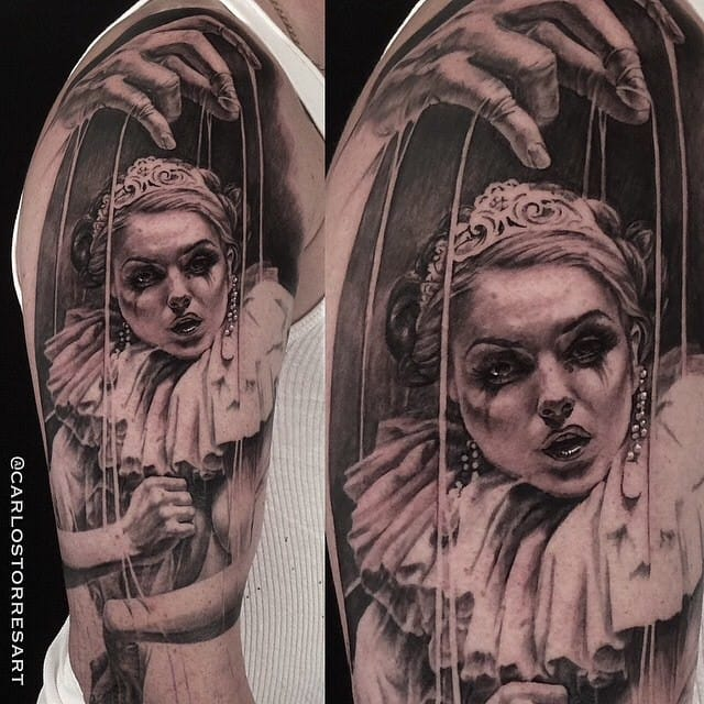 Beautiful Puppet Tattoo by Carlos Torres