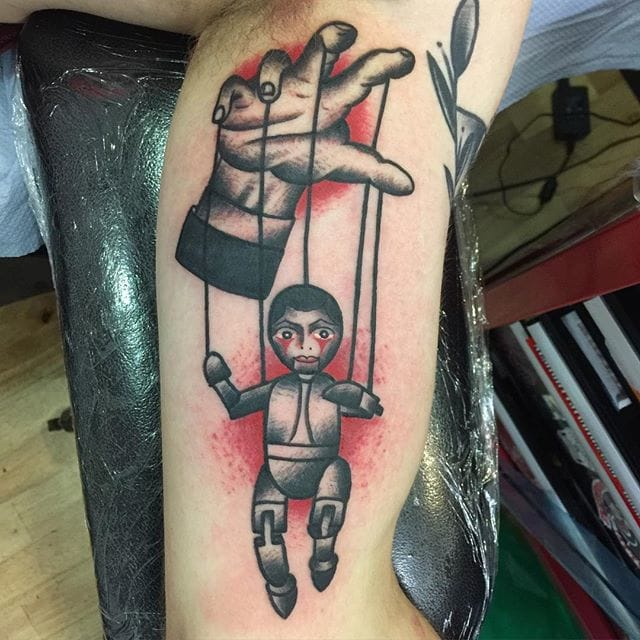 Traditional Puppet On A String by Lindsay Williams Tattoo