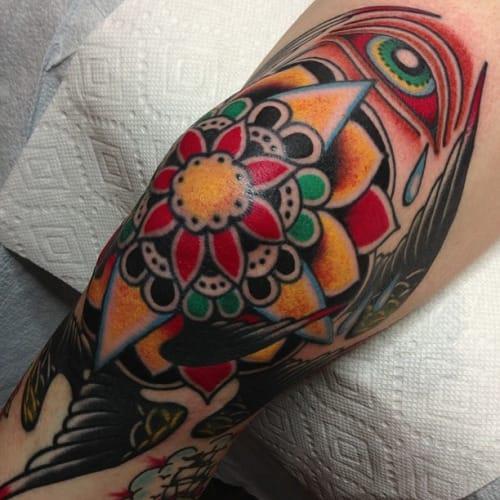 Traditional Flower Tattoo by Steve Byrne