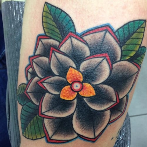 Traditional Flower Tattoo by Arianna Settembrino