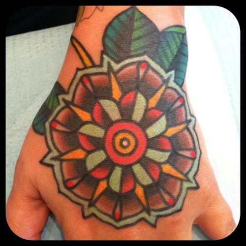 Traditional Flower Tattoo by Jeremy Whitley