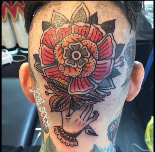 Traditional Flower Tattoo by Joel Madberg