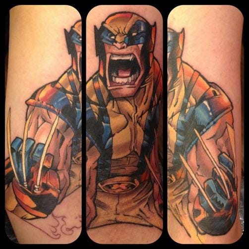 5. Wolverine - Done by Mat Lapping from Creative Vandalls.