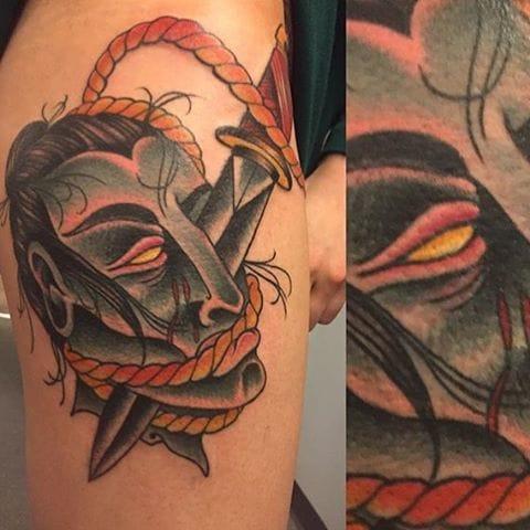 Namakubi Tattoo by Blake Tattoo
