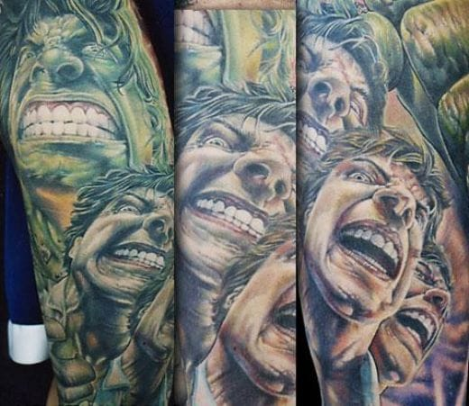 6. Becoming The Hulk - Done by Alfie Lamberger at Marks of the Spark Tattoos.