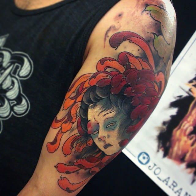 Namakubi Tattoo by Jo Arancibia